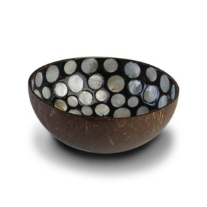 Coconut bowl Black Mother of Pearl
