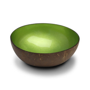 Coconut bowl Lime Metallic Paint